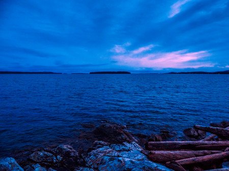 Sunset at the Sidney shore. BC, Vancouver Island, Canada Stok Fotoğraf
