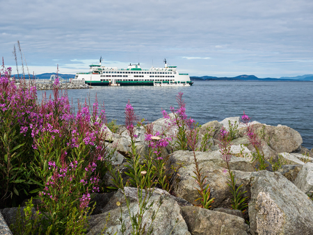 Ferry boat at the terminal in Sidney, Vancouver Island, British Columbia