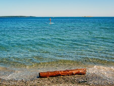 Willows beach in Victoria on Vancouver Island, British Columbia, Canada 版權商用圖片