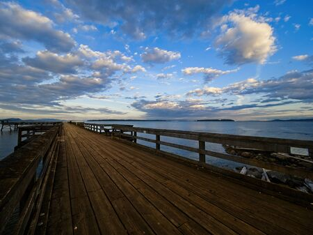 Spectacular shore of Sidney BC, Vancouver Island, Canada. Sunset time