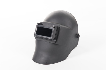 Welding mask on a white background photo
