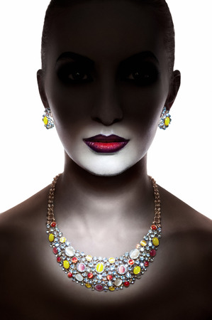 necklaces: Beauty shot of a girl with jewelry
