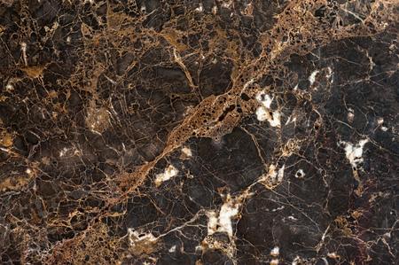 Dark brown colored emperador dark marble slab texture Imagens