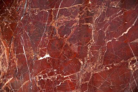 Red texture marbre onyx avec des rayures et les fissures brunes et blanches Banque d'images - 64206409