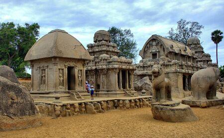 tamilnadu: five chariots sculpture (AD 630-38)