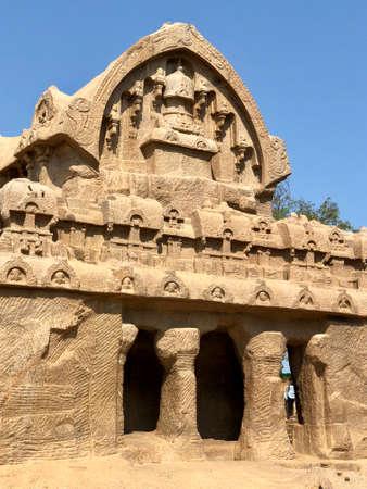 Bhima Ratha in Pancha Rathas complex at Mahabalipuram, Tamil nadu, India