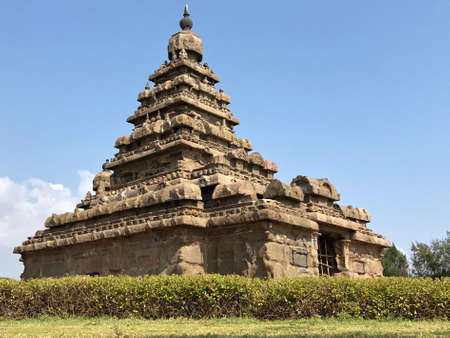 Shore temple in Mahabalipuram, Tamilnadu, India. It is one of the Group of Monuments Reklamní fotografie
