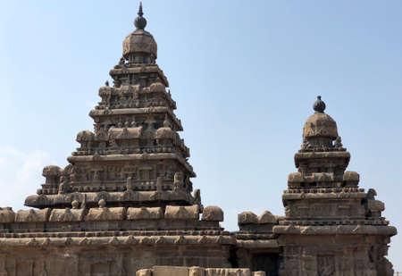 Shore temple in Mahabalipuram, Tamilnadu, India. It is one of the Group of Monuments at Mahabalipuram
