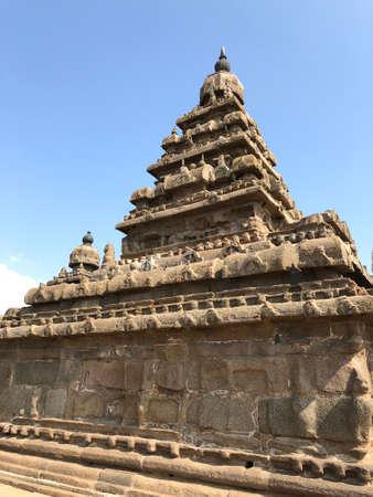 Shore temple in Mahabalipuram, Tamilnadu, India. Reklamní fotografie