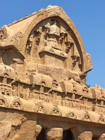 Monolithic rock cut cave temples in Mahabalipuram, Tamil nadu Reklamní fotografie