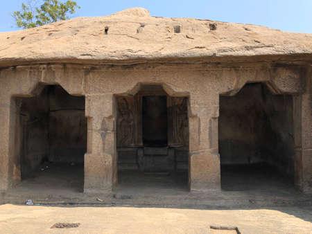 Monolithic rock cut cave temples in Mahabalipuram, Tamil nadu