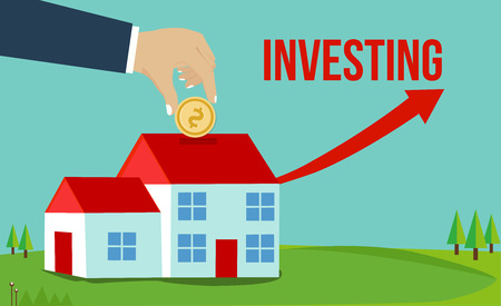 Property house and real estate investment concept