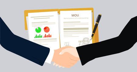 Geschäftsvereinbarung für die Zusammenarbeit nach der Unterzeichnung des Rechtsdokument MOU Memorandum of Understanding