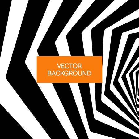 vertigo: Spiral black and white lines vector abstract background