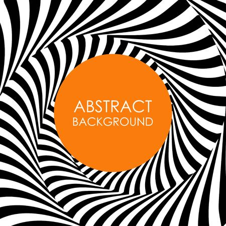 Spiraalvormige zwarte en witte lijnen vector abstracte achtergrond