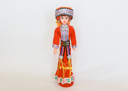 Thai  Hill tribe doll .This is hand crafted girl  doll was created at Northern of Thailand, intricate detail by Thai artisan.They are for decoration in the house or like a toy. Imagens