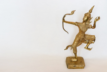 This is the Narai of Thailand, Old  antique brass work very nice elegant for  home decoration. Banco de Imagens
