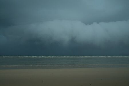 Rain in the sea, the southern part of Thailand