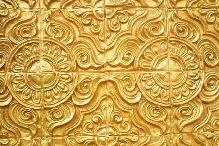 Golden stucco decoration,Temple in Thailand Stock Photo
