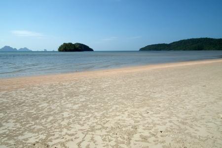 The beach during low tide,Krabi,Thailand