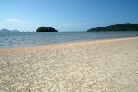 The beach during low tide,Krabi,Thailand