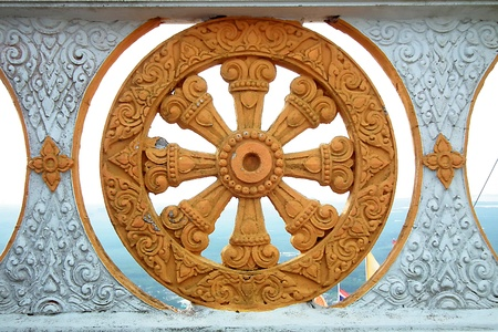 Wheel, the temple of Thailand.