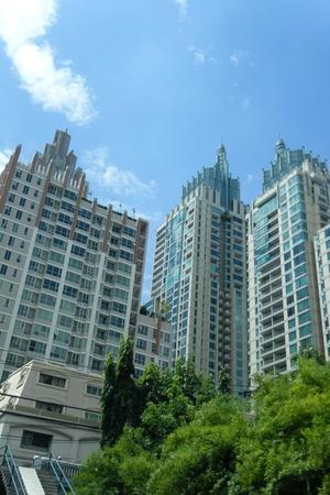 Tallest building in Bangkok, Thailand. Stock Photo - 13451765