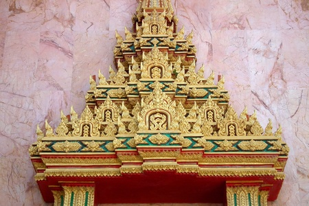 Comment on this arch, the temple of Thailand  Stock Photo