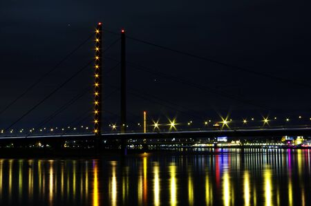 tallest bridge: Rheinkniebruecke Stock Photo