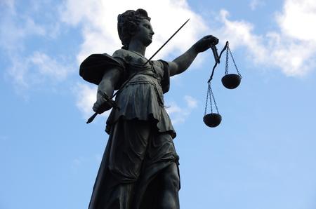 roemerberg: Fountain of Justice, Frankfurt Stock Photo