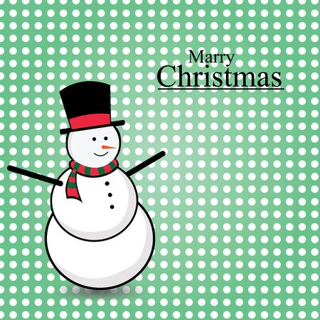 snowman merry christmas card vector Ilustrace