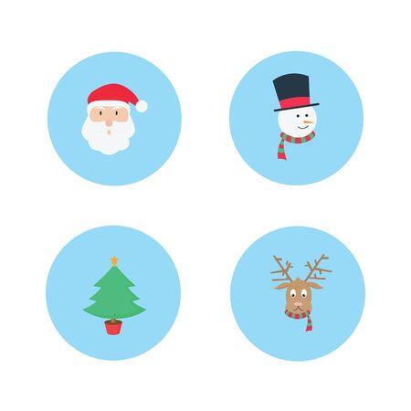 christmas vector icon pack Illusztráció