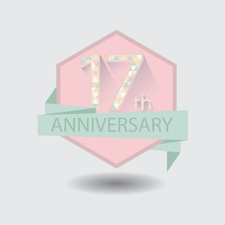 17th aniversary celebration design badge