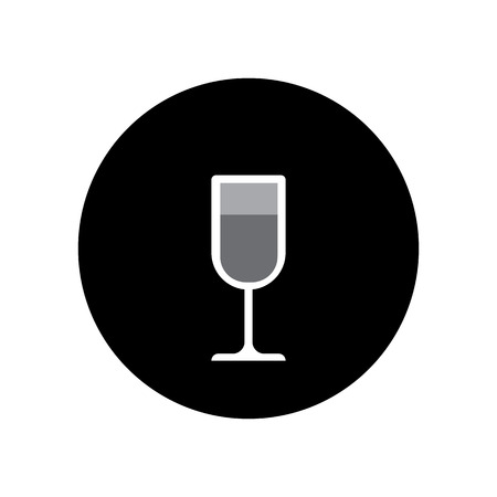 cabernet: wine glass icon vector