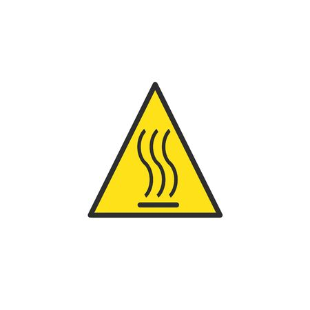Be careful icon of hot surfaces.Safety warning symbol. Banque d'images