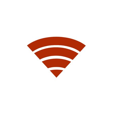 Wi Fi icon on white background.Social connections,