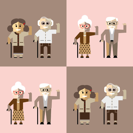bald woman: Couples of older people
