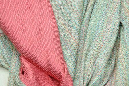 silk fabric: Silk fabric, hand painted hand made Thai silk Stock Photo