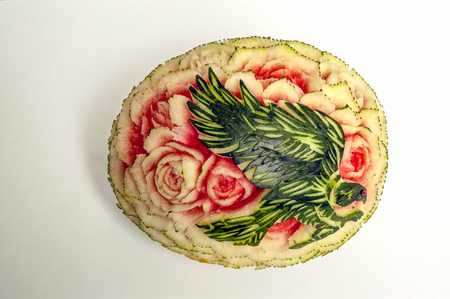 carving: watermelon carving display
