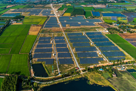 human energy: Solar Panels, Solar Farm in Thailand