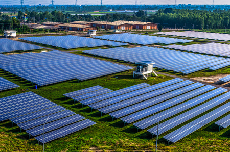 Solar Farm in Nakorn Phatorn Solar Panels
