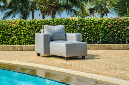 resistant: Outdoor chair made with water resistant outdoor fabrics