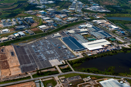 Industrial estate, heavy industry, manufacturer, auto manufacturer in Thailand Stock Photo