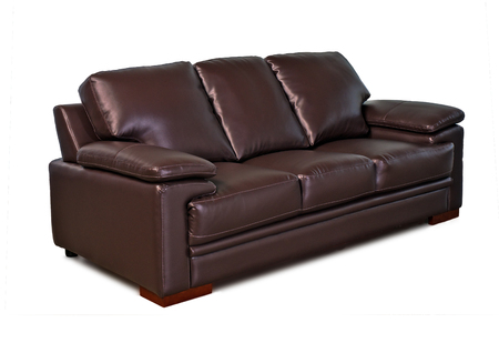 brown leather sofa: Brown leather sofa, isolated on white background