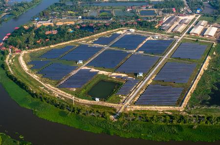 solar farm: Solar farm, solar panels photo from the air