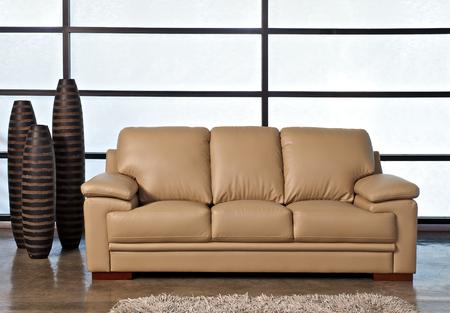 brown leather sofa: Light brown leather sofa