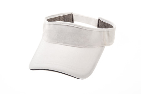 visor: Golf visor adult white on white background