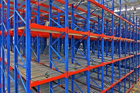 Storage racking pallet system for warehouse metal shelving distribution center Editorial