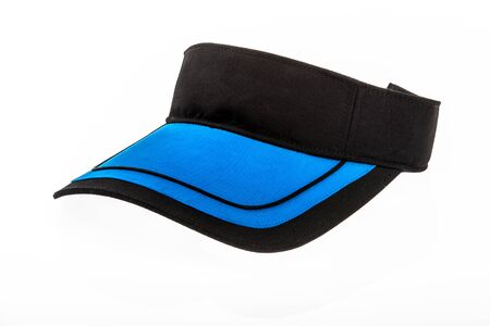 visor: Black and blue junior golf or baseball visor