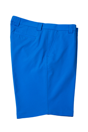 short pants: Light blue short pants trousers for man or woman on white background
